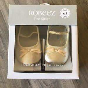 Robeez first kicks Athena ballet strap-gold